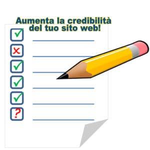 come aumentare la tua credibilità sul sito web