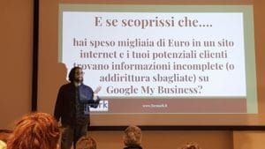 Massimo Vichi a un corso di formazione Formark