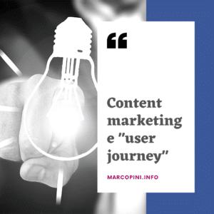 contenuti commerciali e user journey
